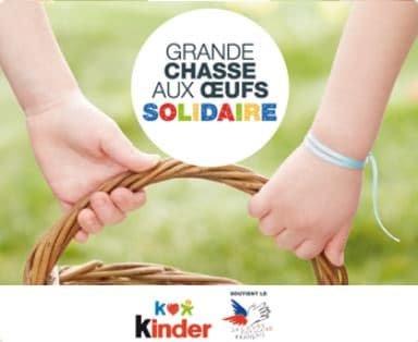 Chasse aux oeufs Kinder