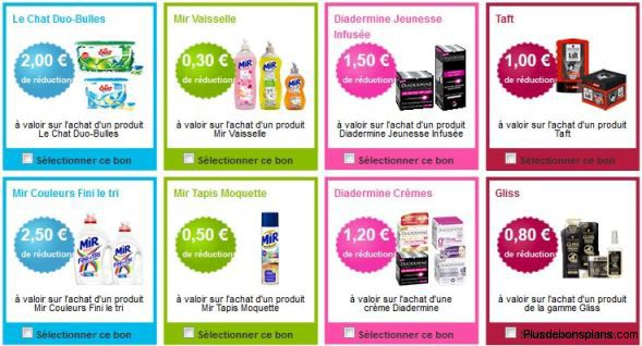 exemple de coupons de réduction sur la belle adresse