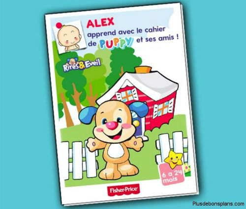 cahier d'apprentissage puppy fisher price