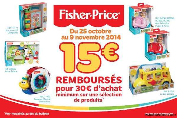 offre fisher price noel 2014
