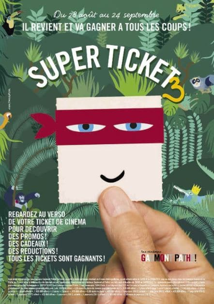 Super ticket Gaumont Pathé 3
