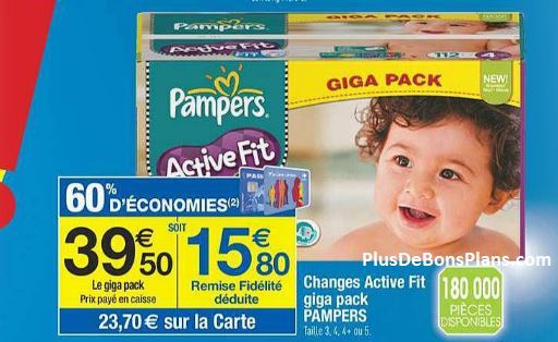 couches pampers moins cheres avec le mois carrefour 50 ans