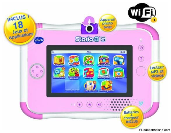 console storio 3s vtech rose