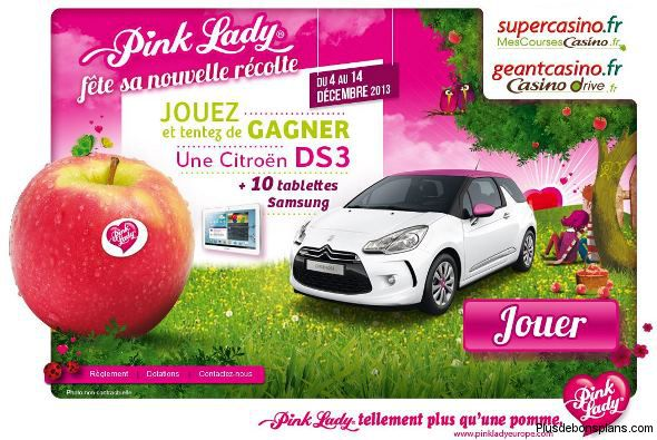 jeu pink lady 1 voiture citro n ds3 et 10 samsung galaxy tab 2. Black Bedroom Furniture Sets. Home Design Ideas