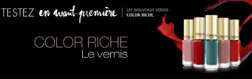 test gratuit vernis ongles color riche