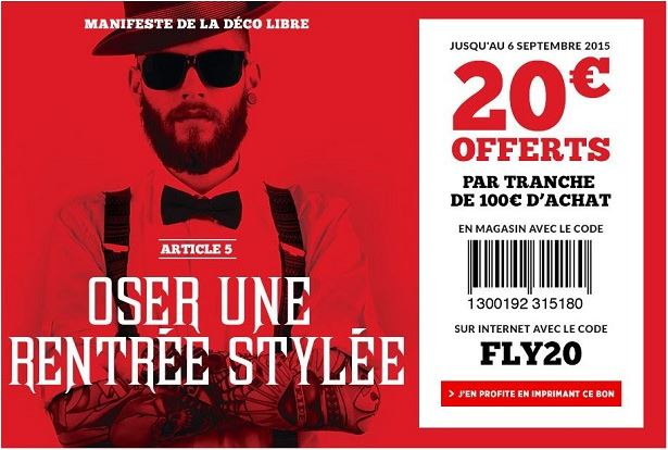 Bon r duction fly 20 offerts imm diatement sur tout le for Reduction leroy merlin