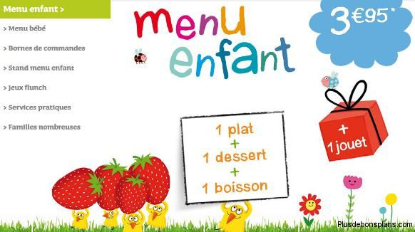 le menu enfant de flunch