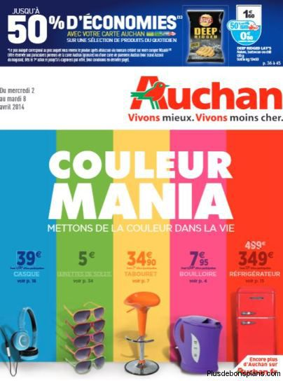 catalogue auchan couleur mania