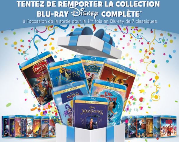 collection complète disney blu-ray