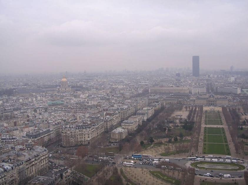 Pollution de l'air atmosphérique à Paris