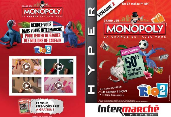 catalogue intermarché monopoly rio 2