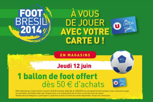 super u ballon foot offert
