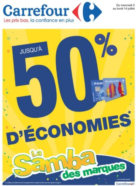 catalogue carrefour samba des marques produits 50. Black Bedroom Furniture Sets. Home Design Ideas