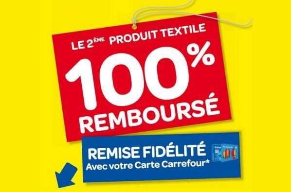 carrefour 2 me textile 100 rembours pr soldes d 39 t 2015. Black Bedroom Furniture Sets. Home Design Ideas
