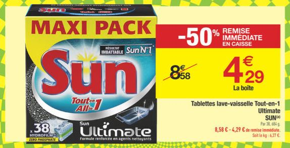 tablette sun ultimate en promo chez carrefour