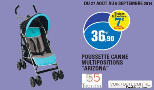 poussette canne multipositions arizona