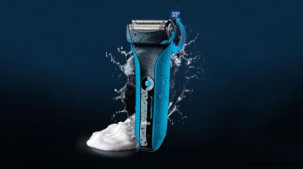 rasoir braun waterflex