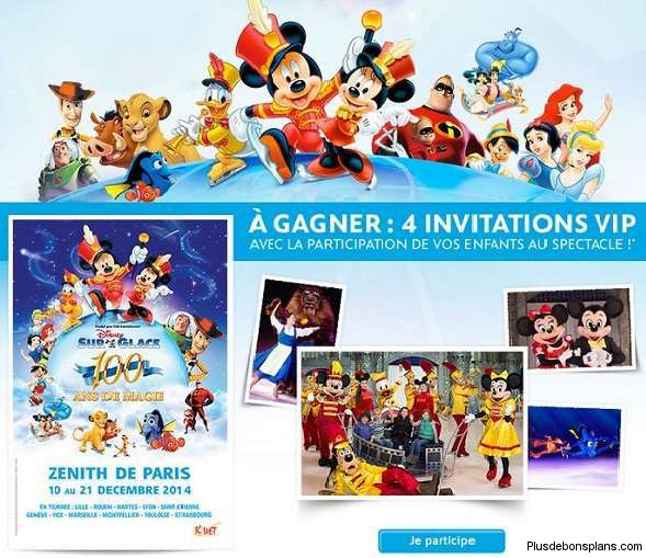 invitations vip disney sur glace