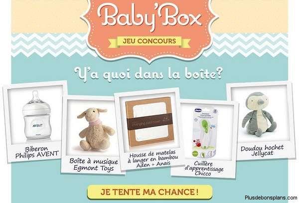 jeu concours baby box de maginea