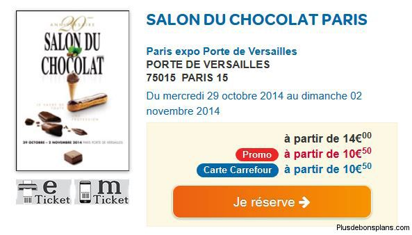 Invitation gratuite salon du chocolat a paris - Entree gratuite salon de l agriculture ...