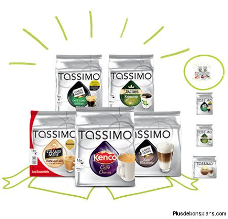 Capsules tassimo T-Disc en reduction