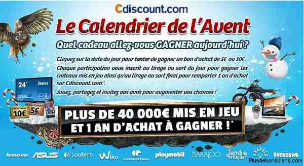 calendrier avent cdiscount