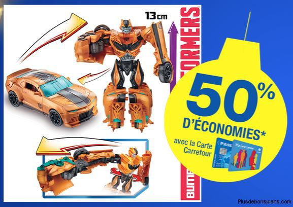 figurines transformers deluxe attackers chez carrefour