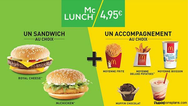 mcdo mclunch nouveau menu. Black Bedroom Furniture Sets. Home Design Ideas