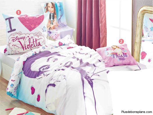 parure de lit disney violetta 22 au lieu de 35. Black Bedroom Furniture Sets. Home Design Ideas