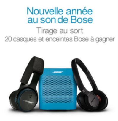 amazon concours casques et enceintes bose 20 gagner. Black Bedroom Furniture Sets. Home Design Ideas