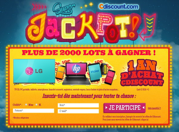 grand concours jackpot cdiscount
