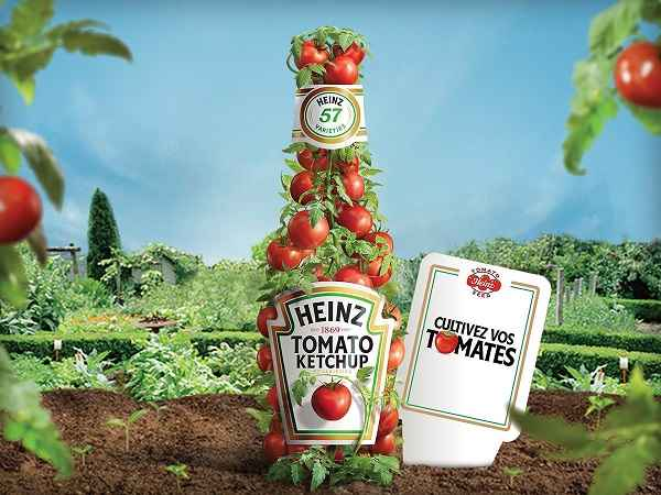 ketchup heinz paquets graines offerts