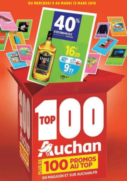 catalogue top 100 auchan 2016