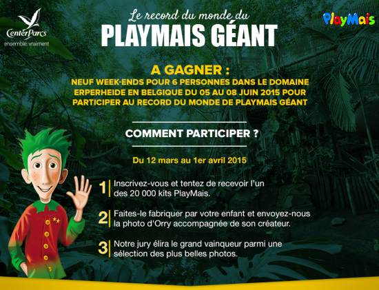 jeu PlayMais de Center Parcs