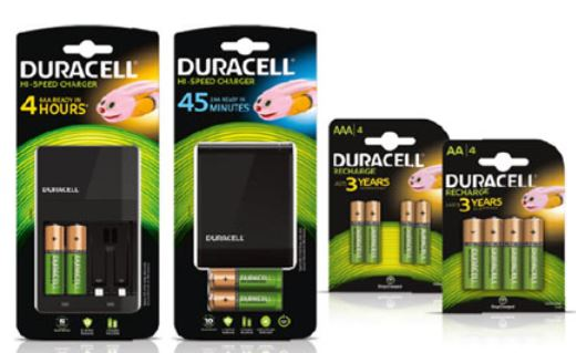 chargeur piles duracell