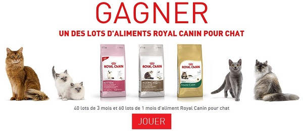 royal canin 100 lots offerts