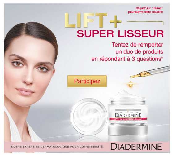 concours diadermine 100 duos lift+ a gagner