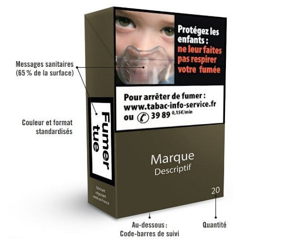 paquet de cigarettes neutre