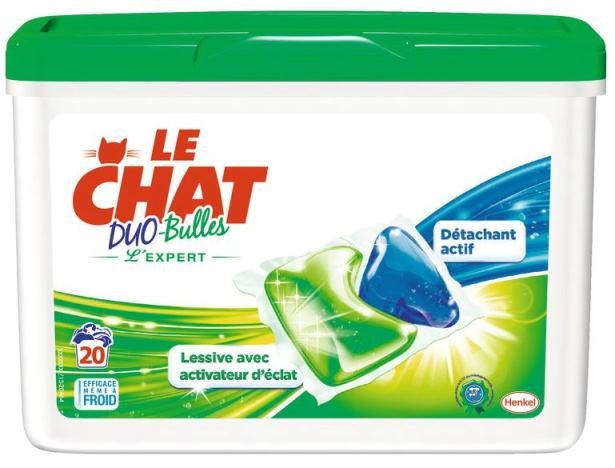 Lessive Le Chat Duo-bulles