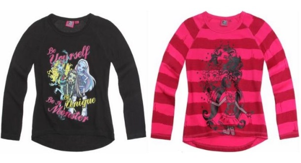 t-shirts monster high sur lamaloli