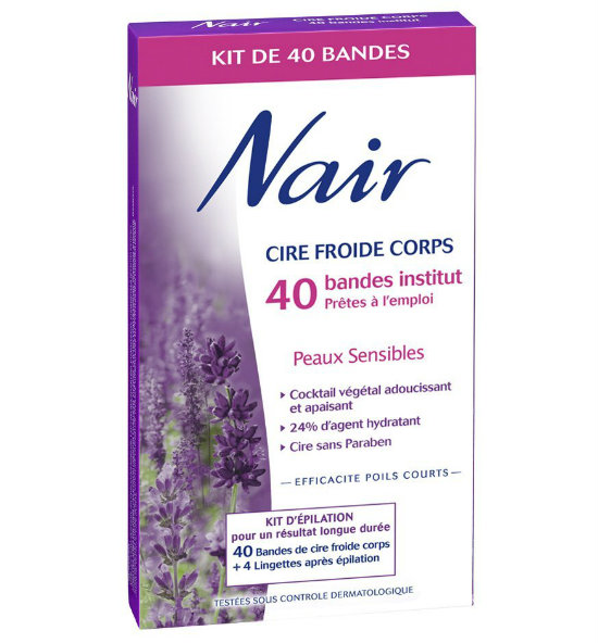 250 boites nair bandes cire corps offertes