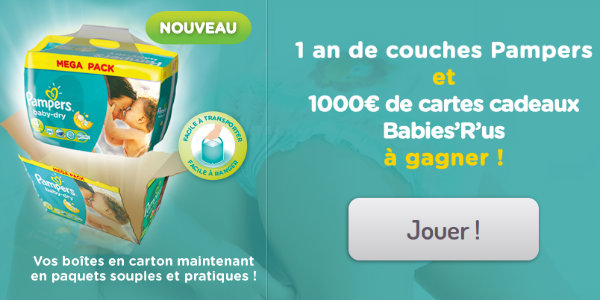 concours babiesrus pampers