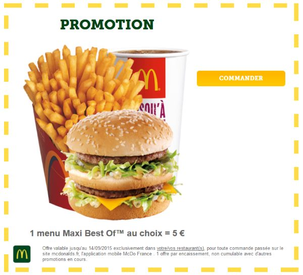 Promotion Menu Maxi Best-Of Mcdo