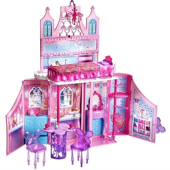 ch teau des f es barbie mattel pour au lieu de. Black Bedroom Furniture Sets. Home Design Ideas
