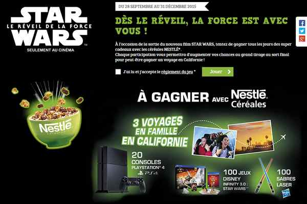 Nestlé et Star Wars