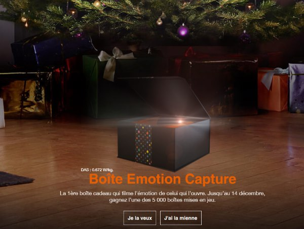 boîtes Emotion Capture d'Orange