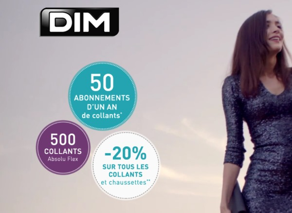 Jeu collants absolu flex de dim