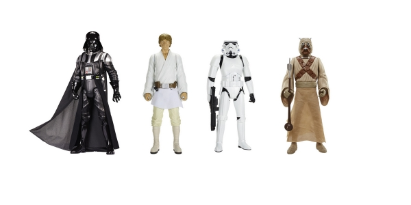 4 figurines Star Wars à 34,95 € chez Auchan