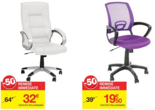 soldes carrefour hiver 2016 fauteuil manager blanc 32. Black Bedroom Furniture Sets. Home Design Ideas