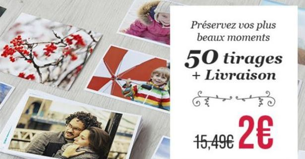 50 tirages photobox 2 euros
